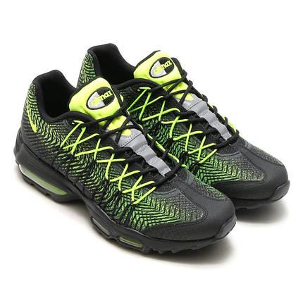 Мужские кроссовки Nike Air Max 95 Ultra Jacquard Black Green топ реплика, фото 2
