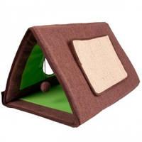Когтеточка, спальное место, домик для котов 3в1 Карли-Фламинго ТЕНТ длина 50см