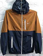 Куртка мужская ветровка лого капюшон опт