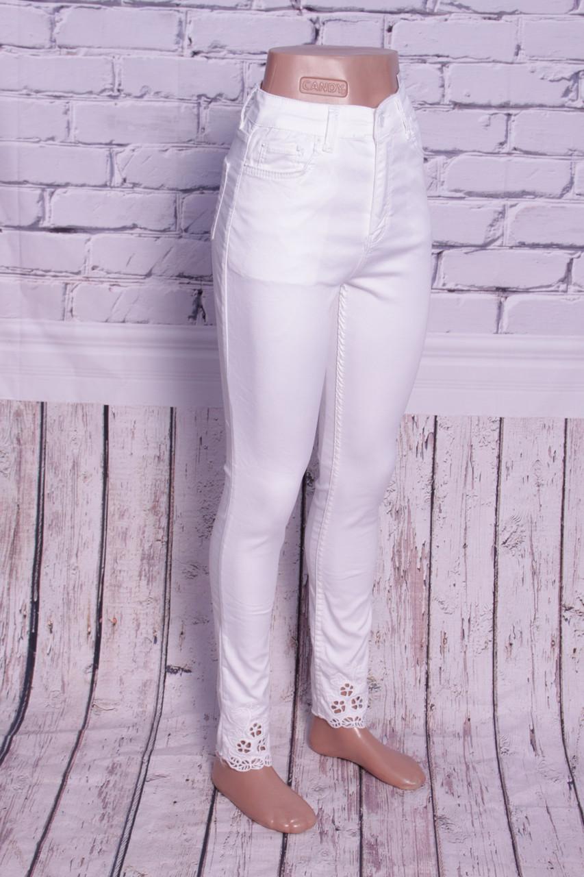 8667b42b2fa Белые джинсы женские с завышенной талией ODL (код 301)  продажа ...