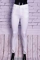 Белые джинсы женские с завышенной талией ODL (код 301)