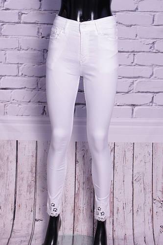 e20070b667cc Белые джинсы женские с завышенной талией ODL (код 301)