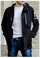 Мужская демисезонная удлиненная куртка 48