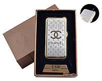 """Газовая USB-зажигалка """"Chanel"""" №4819-4, два в одном, отличный подарок, закончился газ - используй спираль"""