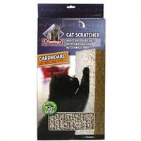 Когтеточка для кошек, навесная, картон, с кошачьей мятой КАРЛИ-ФЛАМИНГО КЕТ СКРАТЧЕР 47,5*23,5*4см