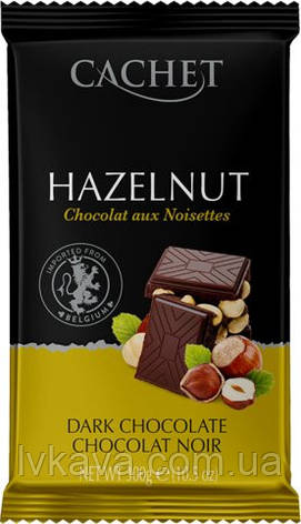Черный  шоколад Сachet c фундуком , 300 гр, фото 2