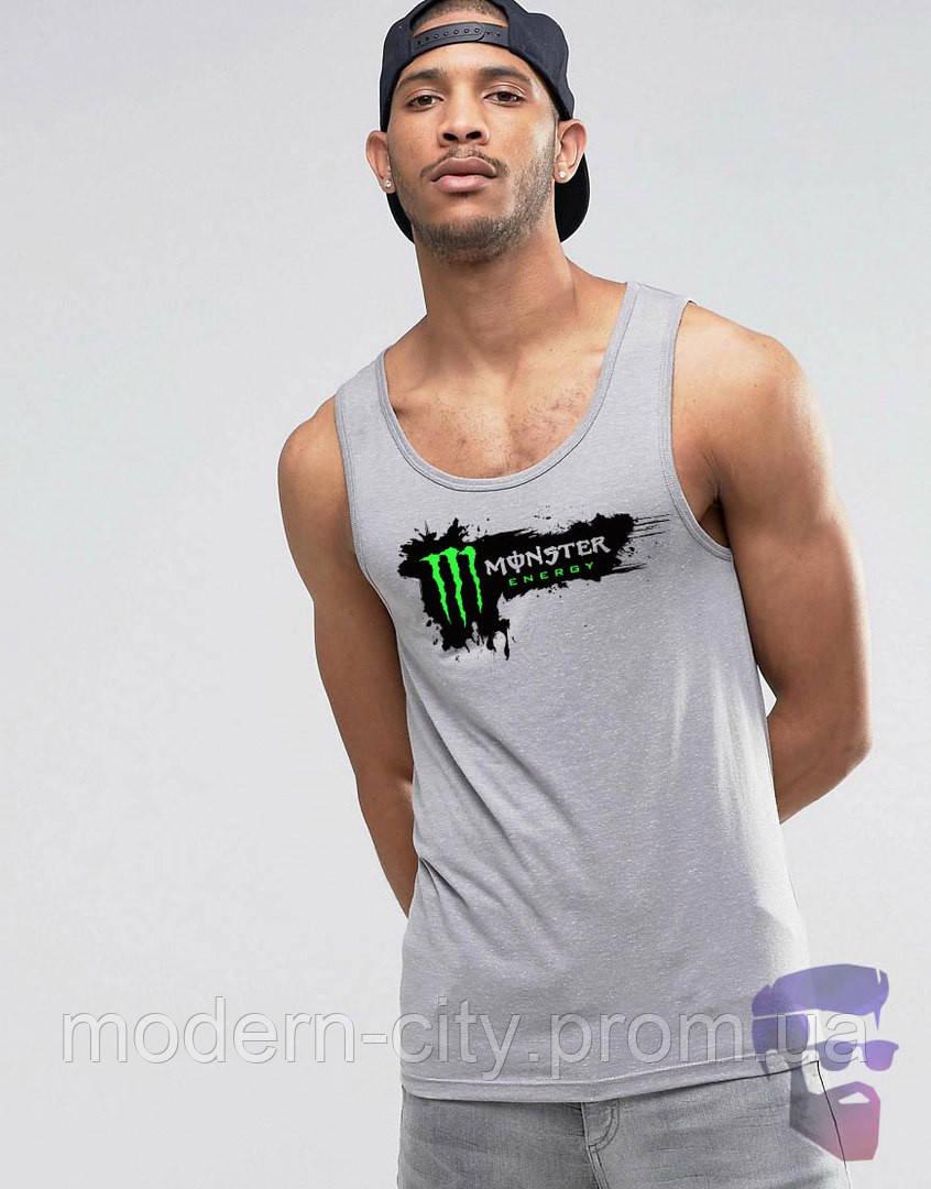 Майка борцовка мужская серая Monster Монстер - «Modern City» - Интернет магазин спортивной одежды в Киеве
