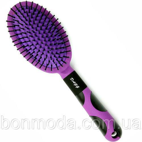Расческа для волос массажная мягкая Dagg (Божья Коровка) фиолетовая