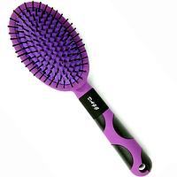 Расческа для волос массажная мягкая Dagg (Божья Коровка) фиолетовая, фото 1