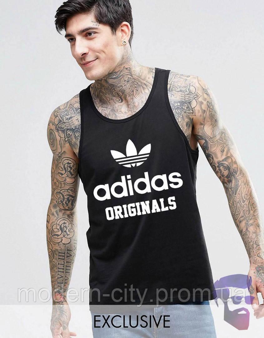 Майка борцовка мужская черная Adidas Originals Адидас - «Modern City» - Интернет магазин спортивной одежды в Киеве