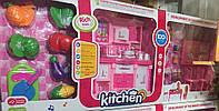 Игровой набор детская кухня с куклой Kichen (свет, звук)