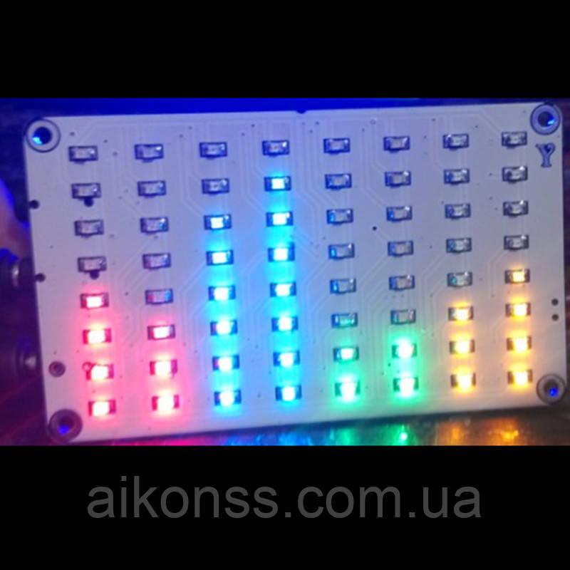 64 LED Индикатор уровня звука график цветной для УНЧ