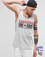 Майка борцовка мужская серая Converse Onestar Конверс