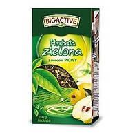 Чай зеленый листовой Big Active Herbata zielona z owocem pigwy 100 g