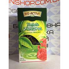 Чай листовой Big-Active Herbata zielona z owocem Maliny100g Польша