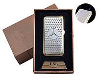 """Газовая USB-зажигалка """"Mersedes-Benz"""" №4819-2, необычный подарок другу, зажигалка два в одном"""