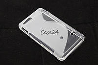 Чехол накладка бампер для Sony Xperia Go ST27i матовый/прозрачный, фото 1