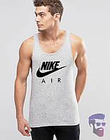 Майка борцовка мужская серая Nike AIR Найк