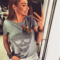 Стильная женская футболка у-17379