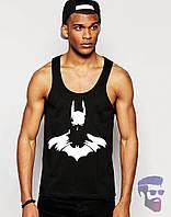 Майка борцовка мужская черная Batman Бетмен