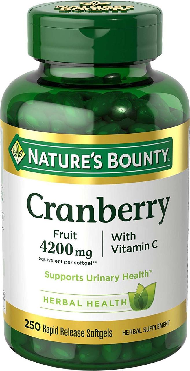 Экстракт клюквы Nature's Bounty с витамином C, 250 быстрорастворимых капсул
