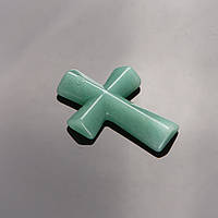 Кулон Крест каменный Нефрит   4,5х3см