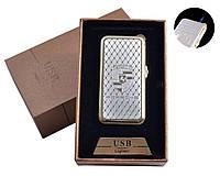 """Газовая USB-зажигалка """"Porsche"""" №4819-3, острое синее пламя + спираль накаливания, два в одном"""