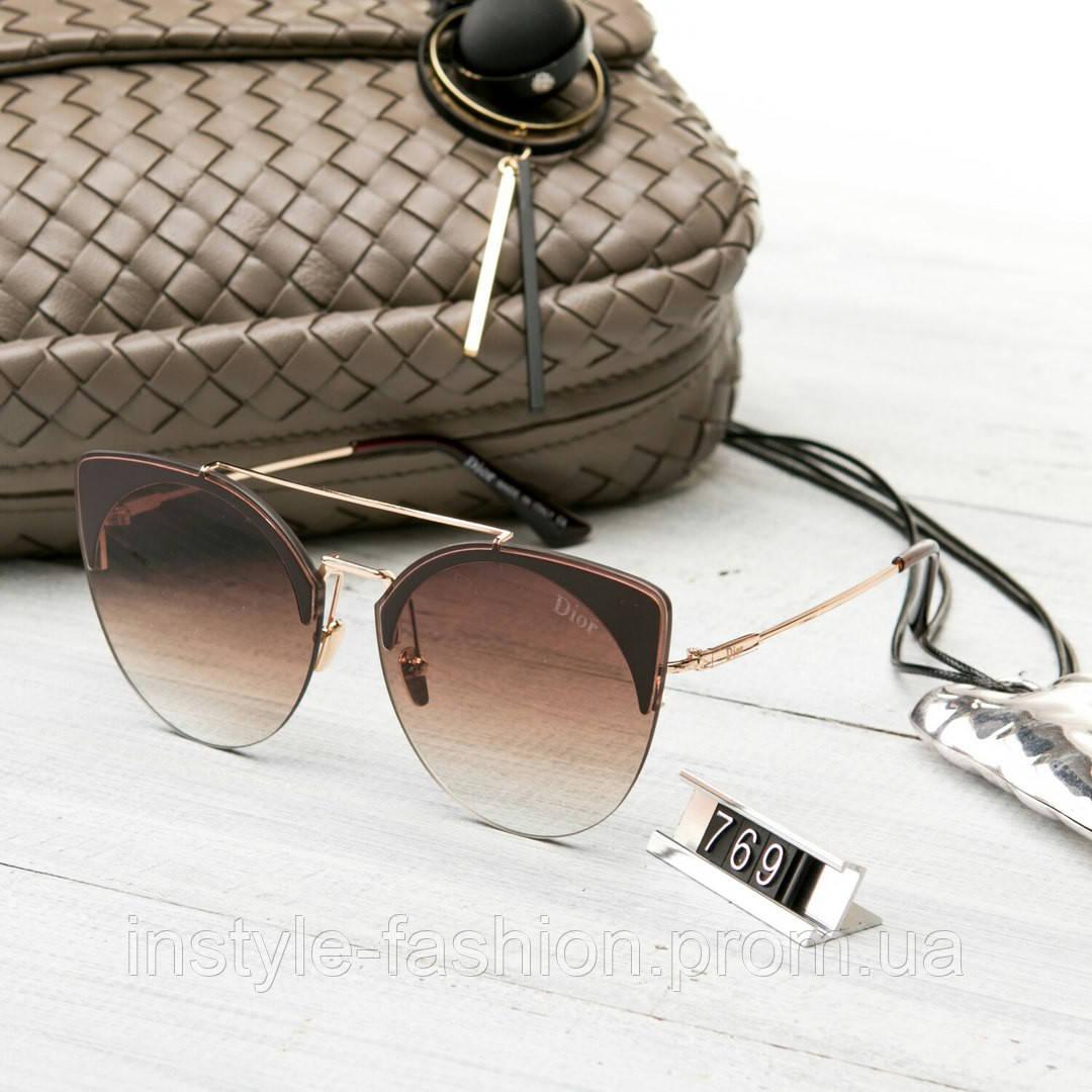 8fa0049e89c6 Женские брендовые очки копия Диор реплика круглые коричневые  купить ...