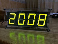 Светодиодные электронные часы с датчиком температуры