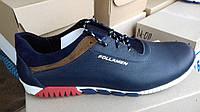 Обувь больших размеров Кожаные мужские кроссовки Follamen,синие, размеры 46,47,48,49,50