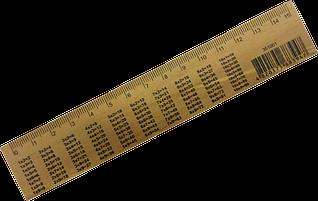 Линейка деревянная 15 см.таблица умножения /шелкография/ Мицар