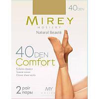 Недорогие тонкие классические матовые носки Mirey 40den comf-no40 (5 ед. в упаковке)