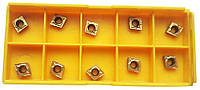 Токарные пластины CCMT060204 из карбида с TIN покрытием, 10 шт, 6.35x6.35x6.35x6.35 мм, толщина 2.3 мм