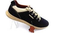 Мужские кожаные спортивные туфли ClubShoes ,перфорация,черные