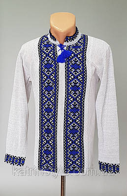 Мужская вязанная  вышиванка