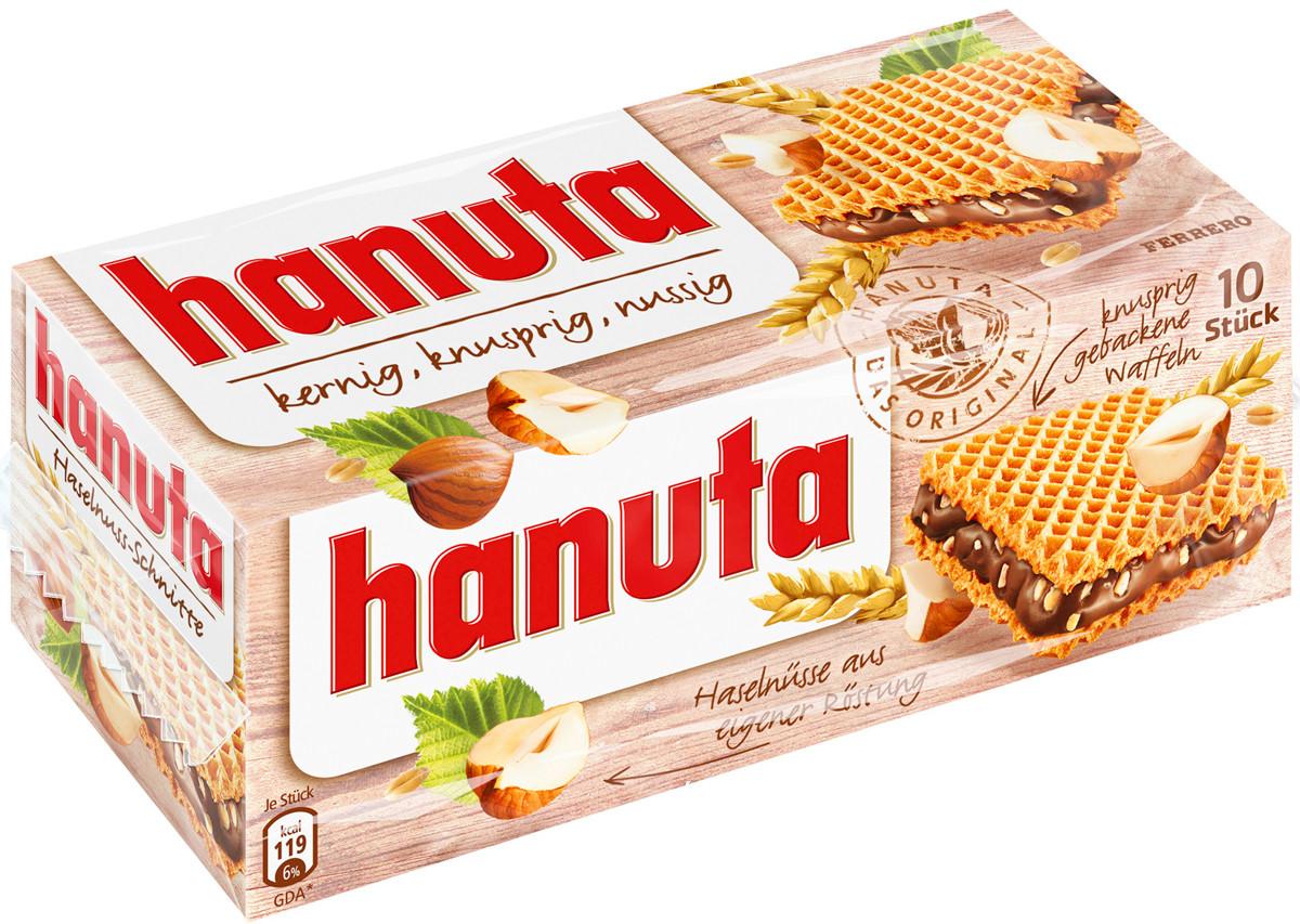 Вафли Hanuta Haselnusse Ferrero с фундуком, 220 гр.