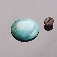 Кабошон круглый голубой агат d-25мм