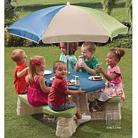 Детский Столик для Пикника с Зонтиком Step2 8438