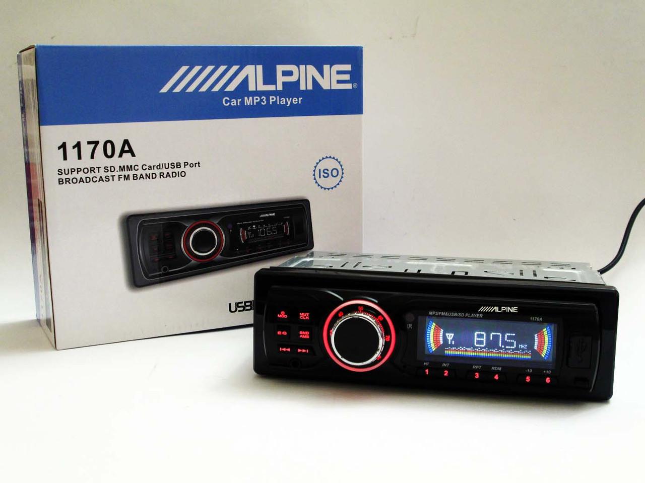 Автомагнитола ALPINE 1170A - USB+SD+AUX+FM (4x50W)