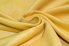 Пальтовая ткань с ворсом желтая