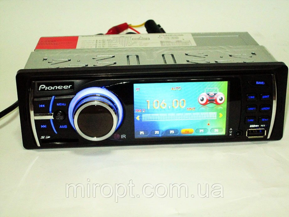 "Автомагнитола Pioneer 9090U - 3"" TFT Divx/mp4/mp3 USB+SD+AUX (4x50W)"