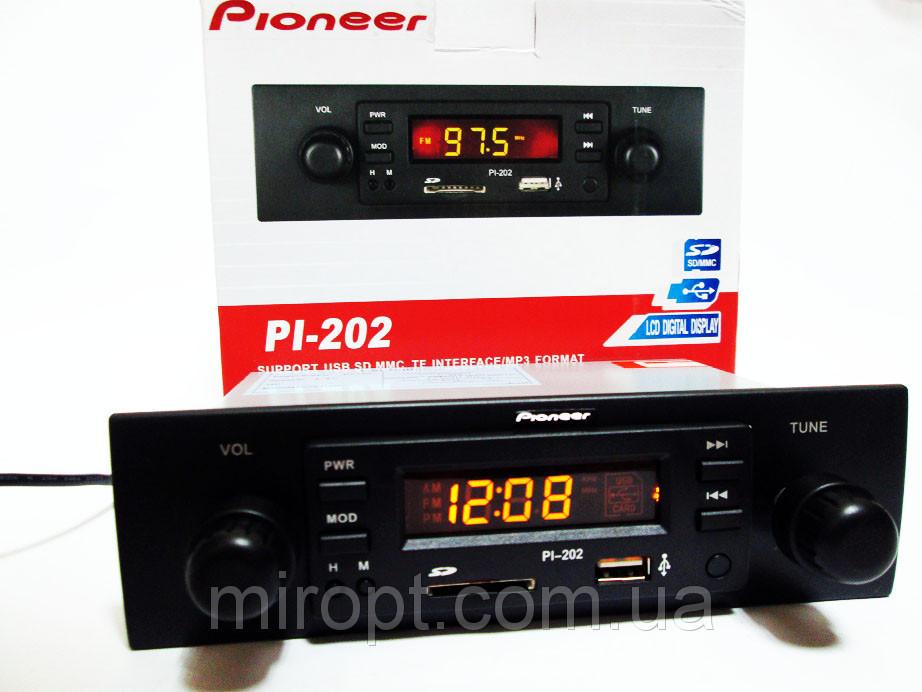 Автомагнитола Pioneer PI-202 - USB+SD+FM