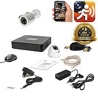 AHD Комплект видеонаблюдения для быстрой установки Tecsar 2OUT MIX