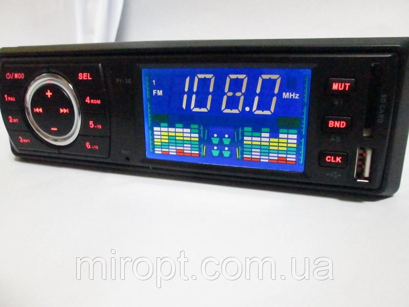 Автомагнитола Pioneer PI-36 - USB+SD+FM+AUX