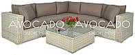 Комплект плетених меблів з ротангу VEGA MELANGE WHITE  250 X250см