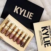 Жидкая матовая помада Kylie Birthday Edition, набор 6 шт.