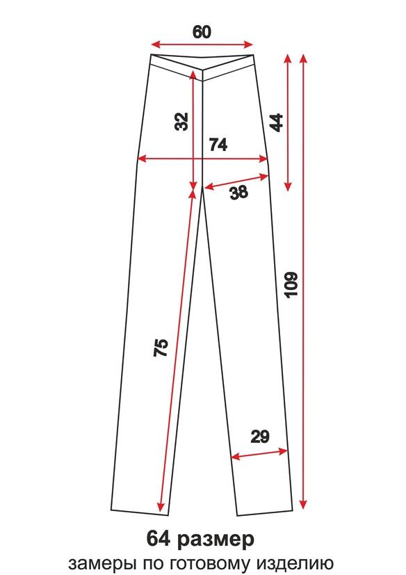 Схема 64 размер - модные спортивные брюки женские - выкройка teens.ua