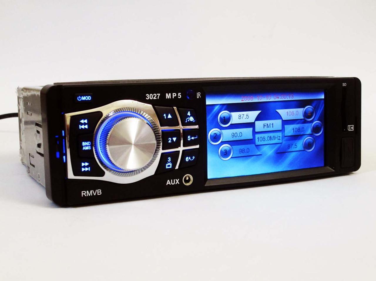 "Автомагнитола Pioneer 3027 3.6"" VIDEO экран USB+SD+FM+AUX"