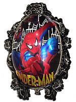 Фольгированный воздушный шарик зеркало Человек Паук 70 х 59 см.
