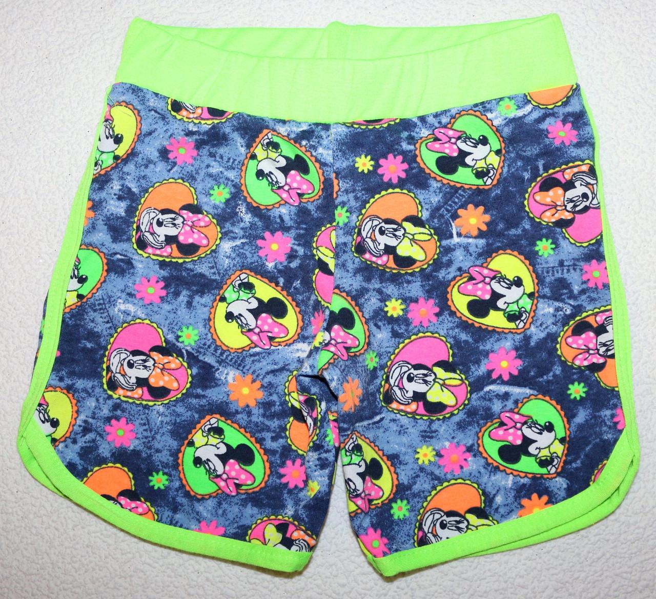 Яркие летние шорты на девочку 5,6,7,8 лет 100 % хлопок